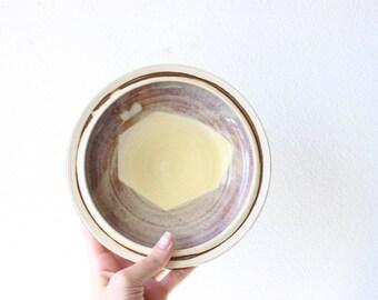 Studio Pottery Catch All Dish Ring Dish Pedestal Display Pedestal Bowl Change Holder Boho Home Decor