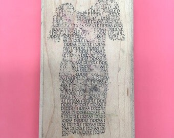 Dress Rubber Stamp Dress Craft Rubber Stamp Clothing Rubber Stamp Purple Dress My Sentimenets Exactly T336
