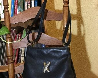 Black Leather Shoulder Bag Paloma Picasso Brand