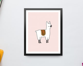 Llama Drama - Printable Art for Office Or Childs Room
