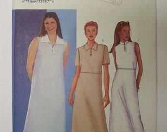 2001 Butterick 3075 Very Easy DRESS Pattern sz 8-10-12 UNcut