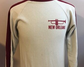 Vintage/Retro New Orleans Sweatshirt, Size: Medium