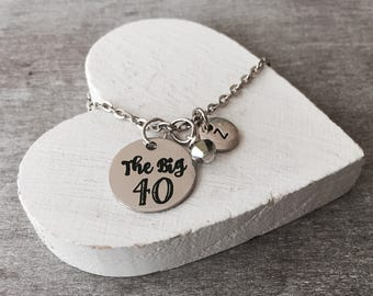 40 and Fabulous, 40th Birthday, Birthday Charm, Silver Birthday , Birthday Charm Necklace, Silver Birthday Necklace, Special Birthday, Gift