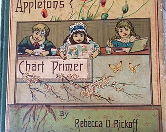 Vintage Victorian Primer School Book