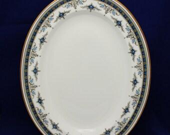 "Minton Grasmere Blue Oval Serving Platter 13"" English Bone China 1st.Quality  (D)"