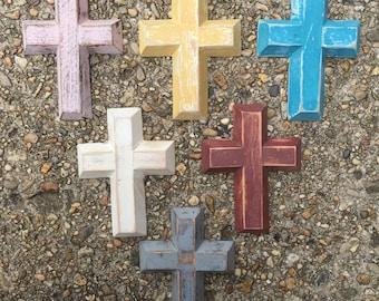 Painted Wooden Cross - Mini
