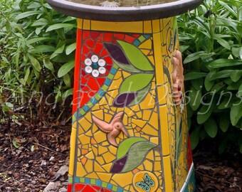 Mosaic Birdbath Original Photograph