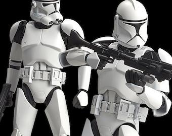 Custom Built and Painted 1/12 Scale Bandai Star Wars Clone Trooper Model