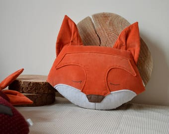 Fox Cushion, Fox Pillow, Plush Fox, Fox Decor, Stuffed Fox, Woodland Pillow, Decorative Fox, Fox Gift, Fox Lover