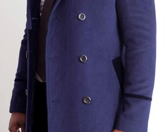 Cashmere and Velvet Peacoat