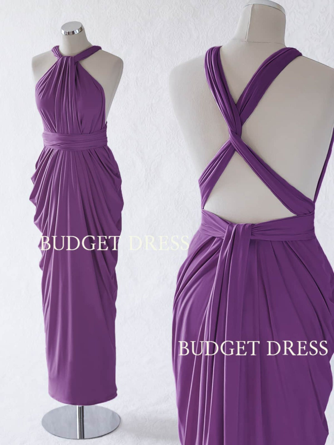 Plum convertible bridesmaid dress violet infinity long zoom ombrellifo Choice Image