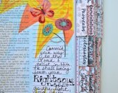 Bible Tabs with Laminating Stickers... CORAL FLORAL set... 66 Books of the Bible... Self Adhesive... Coral, Aqua, Slate Gray