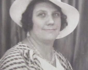 My New Hat - Cute 1940's Older Woman Sporting Her New Hat Photo Booth Photo - Free Shipping