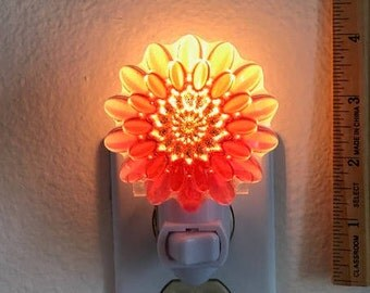 Pink Resin Flower Night Light #2