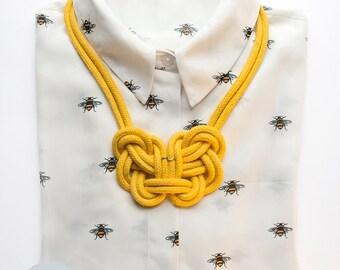 Statement chain nodes Mari / knotted statement necklace