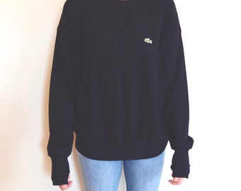 SALE!! Vintage Navy Lacoste Sweater // Chemise // Crew Neck // Large