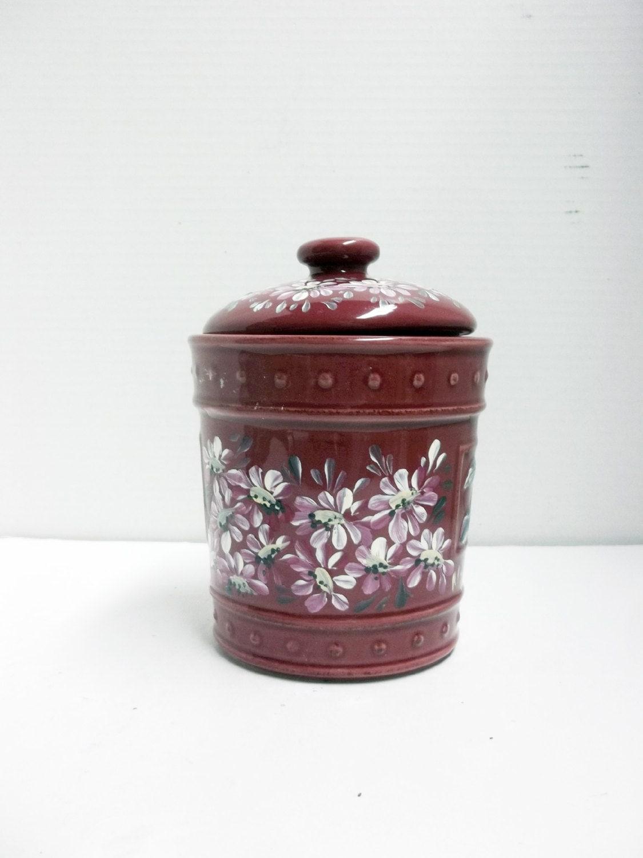 stoneware jar burgundy kitchen canister food storage hand kitchen canister set burgundy archives isitdownforjustme com