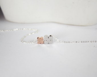 Clover Necklace ,2 Clover  Necklace.New Mom Necklace,New Mommy,Sisters Jewelry Gift,New Mom Gift, Babe Shower,silver clover.rose gold clover