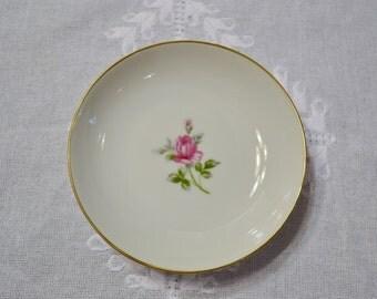 Vintage Symco Rose Lea Fruit Berry Bowl White Pink Rose Wedding China Replacement Made in Japan PanchosPorch