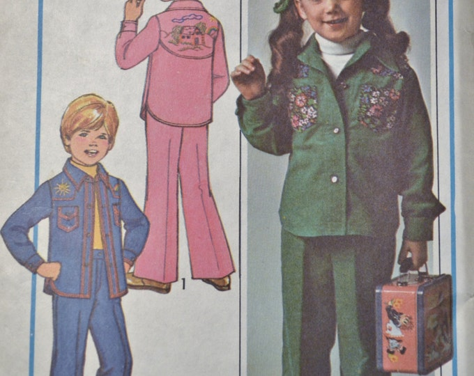 Simplicity Pattern 7687 Childs Shirt Jacket Pants Size 3 4 Fashion Clothing Sewing Supplies PanchosPorch