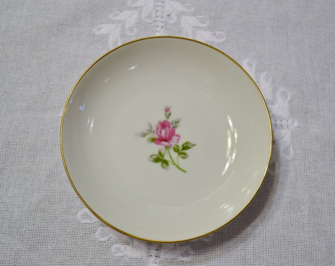 Vintage Symco Rose Lea Fruit Berry Bowl White Pink Rose Wedding China Replacement Made in Japan PanchosPorch