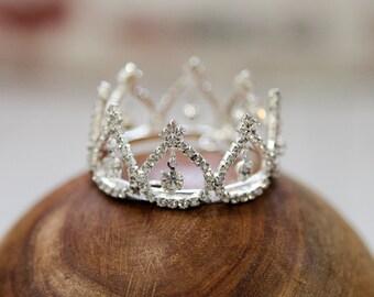 Newborn Crown, crown, newborn photo prop, princess crown, crystal crown, baby crown, photo Prop, Baby Shower Gift Mini Crown