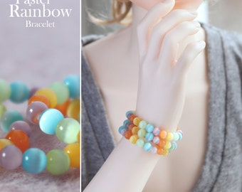 Pastel Rainbow Bracelet for SD BJD