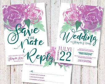 Flower Watercolor Inspired Wedding Package
