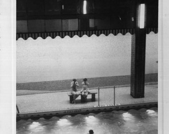 Vintage Photo..Pool at Hotel St. George NYC, 1950's Original Found Photo, Vernacular Photography