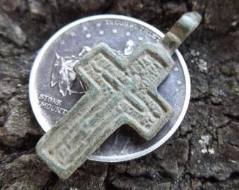 Civil War Soldier's Cross, Dug in a New York (Union) Camp in Stafford, VA - Unique Crucifix, Authentic Religious Military Antebellum Antique