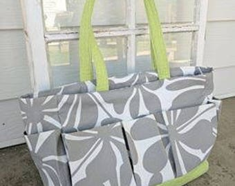 Gray and White Bag