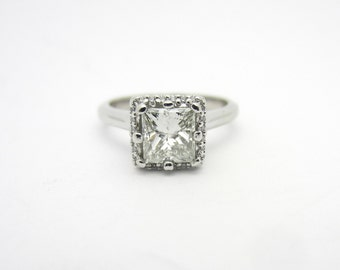 Tacori 1 Cttw Princess Cut Halo Diamond Engagement Ring Platinum Sz 5