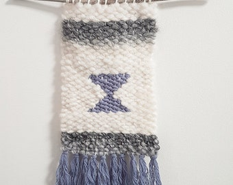 Woven wool wall hanging