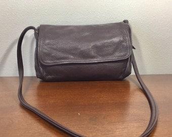 Brown Leather Purse, Bag, Shoulder Bag, 1970's