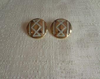 Vintage Indian Style Earrings, Round Stud Earrings