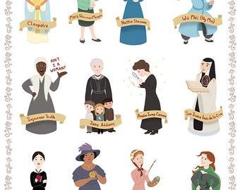 Women in History III, 8x10