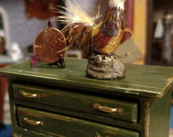 Handcrafted Dollhouse Rooster