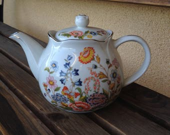Floral Teapot, Teapot Robinson Design, Tea Party Decor, Cottage Style Decor, Shabby Chic, Get Well Soon Gift Inspired