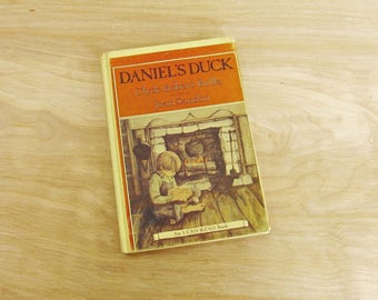 Vintage Children's Book Daniel's Duck by Clyde Robert Bulla An I Can Read Book Beginner Reading Elementary Reader Wood Carving Book