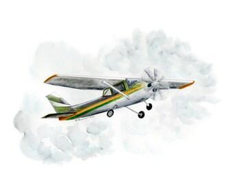 Airplane Wall Art - Transportation Nursery Print - Boy Room Decor - Airplane Nursery - Kids Playroom Art - Nursery Decor - Airplane Art