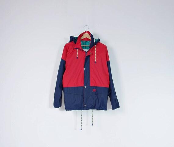 SALE 40% OFF - 90s Helly Hansen Hidden Hood Nylon Old School Sportswear Windbreaker / Men XS / Women S/M / Kids 16 yo