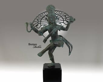 "Shiva Nataraja 20""/50.8cm Lord Of Dance Destroyer Of Ignorance In The World; New Life & Renewal Bronze Shiva Hindu Diety Statue"
