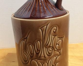 McCoy Brown Cookie Jug Cookie Jar Vintage 1970s