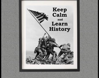 Gift Idea for History Teacher, Iwo Jima History Poster, Gift Idea for Social Studies Teacher, Printable Teacher Appreciation Week Poster