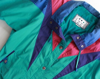 80's Colorful Abstract Ski Jacket Insulated Winter Coat