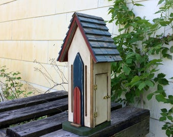Handcrafted Butterfly House Cedar Rustic Primitive Folk Art Country Decor
