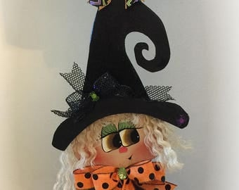 Halloween Witch Decoration, Witch Stand, Rustic Witch, Farmhouse Halloween decoration, Halloween witch sign,Halloween decoration,Halloween