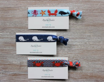 Octopus Starfish Crab Whale-White Whale- Crab-Hair Tie