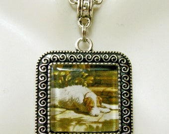 Terrier place in the sun pendant with chain - DAP02-007
