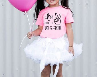 Im Two Lets Party - Second Birthday - Second Birthday Shirt - 2nd Birthday Shirt - Girls 2nd Birthday Shirt- Girls Second Birthday Outfits